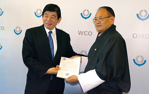 WCO Secretary General Kunio Mikuriya and H.E. the Ambassador of the Kingdom of Bhutan in Brussels Sonam Tshong