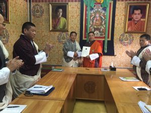 Signing of the Ministry's APA for FY 2016-17 between Hon'ble Lyonpo and Dasho Secretary
