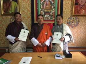 Signing of Department of National Properties APA for FY 2016-17 between Dasho Secretary and Director General Nima Wangdi