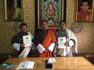 Signing of Department of National Budget APA for FY 2016-17 between Dasho Secretary and Director Lekzang Dorji