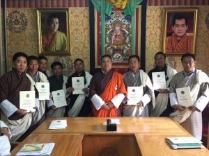 Signing of Secretariat APA for FY 2016-17 between Dasho Secretary and Chiefs